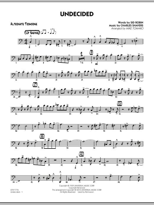 Undecided - Alternate Trombone (Jazz Ensemble)