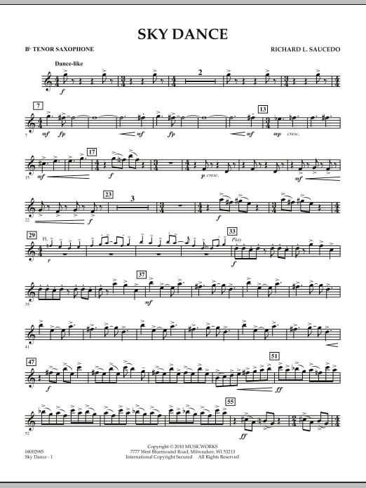 Sky Dance - Bb Tenor Saxophone (Concert Band)