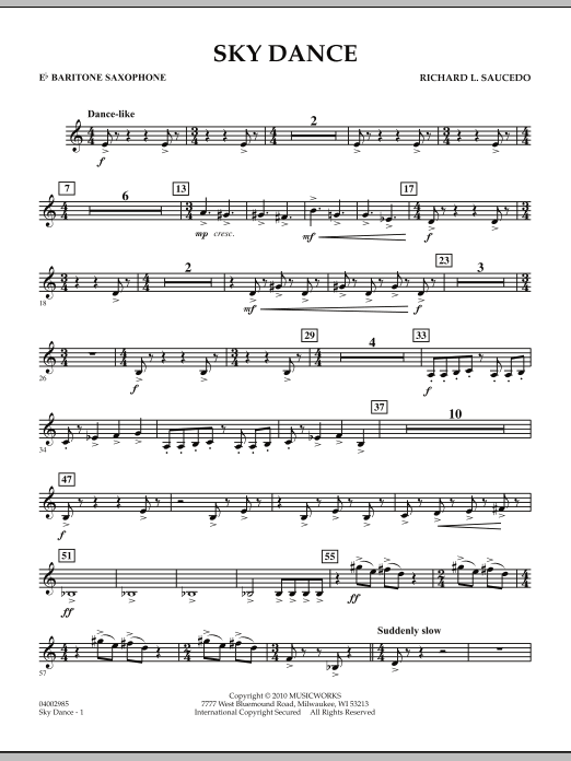 Sky Dance - Eb Baritone Saxophone (Concert Band)