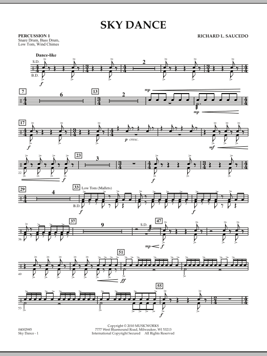 Sky Dance - Percussion 1 (Concert Band)