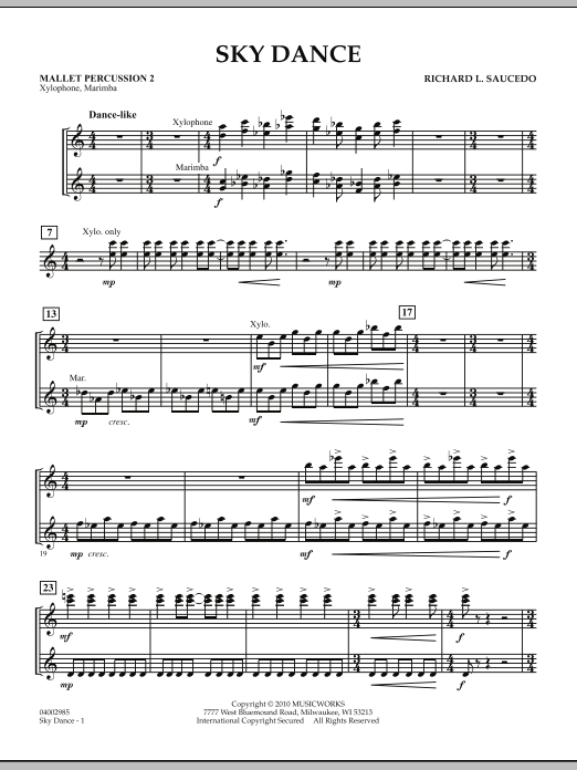 Sky Dance - Mallet Percussion 2 (Concert Band)