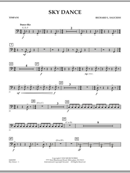 Sky Dance - Timpani (Concert Band)