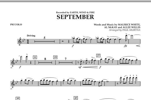 September (arr. Paul Murtha) - Piccolo (Concert Band)