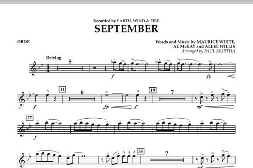 September (arr. Paul Murtha) - Oboe (Concert Band)