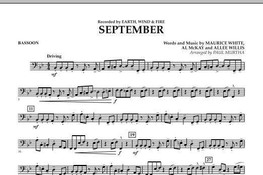September (arr. Paul Murtha) - Bassoon (Concert Band)