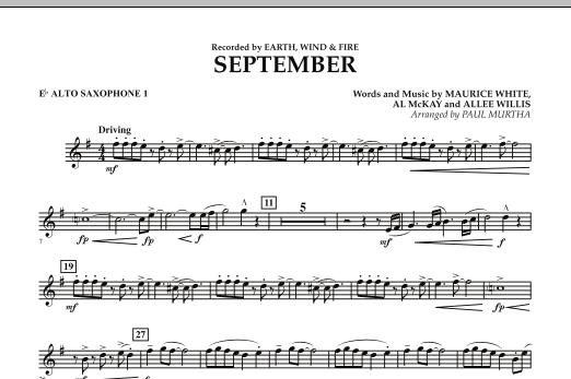 September (arr. Paul Murtha) - Eb Alto Saxophone 1 (Concert Band)