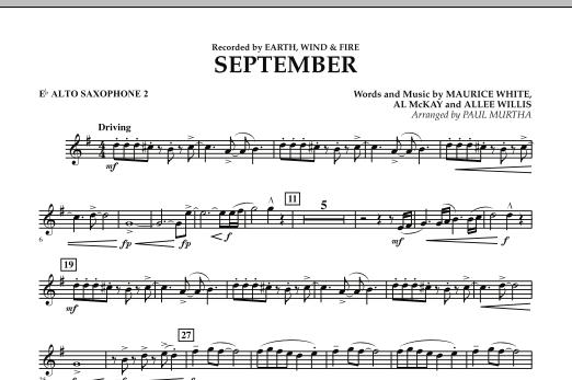September (arr. Paul Murtha) - Eb Alto Saxophone 2 (Concert Band)