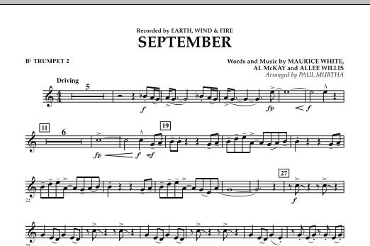 September (arr. Paul Murtha) - Bb Trumpet 2 (Concert Band)