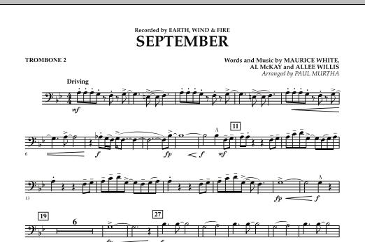 September (arr. Paul Murtha) - Trombone 2 (Concert Band)