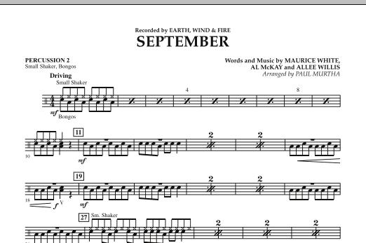 September (arr. Paul Murtha) - Percussion 2 (Concert Band)