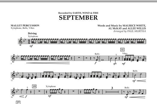 September (arr. Paul Murtha) - Mallet Percussion (Concert Band)