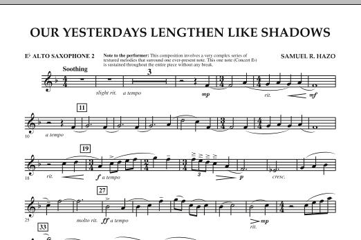 Our Yesterdays Lengthen Like Shadows - Eb Alto Saxophone 2 (Concert Band)