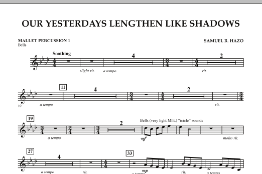 Our Yesterdays Lengthen Like Shadows - Mallet Percussion 1 (Concert Band)