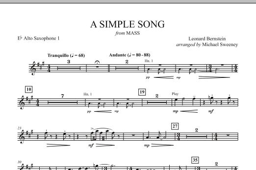 A Simple Song (from Mass) - Eb Alto Saxophone 1 atStanton's