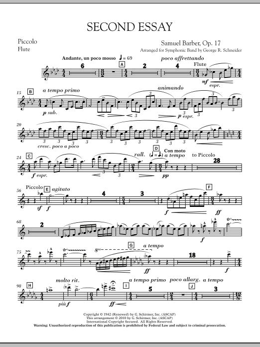 Second Essay - Piccolo (Concert Band)