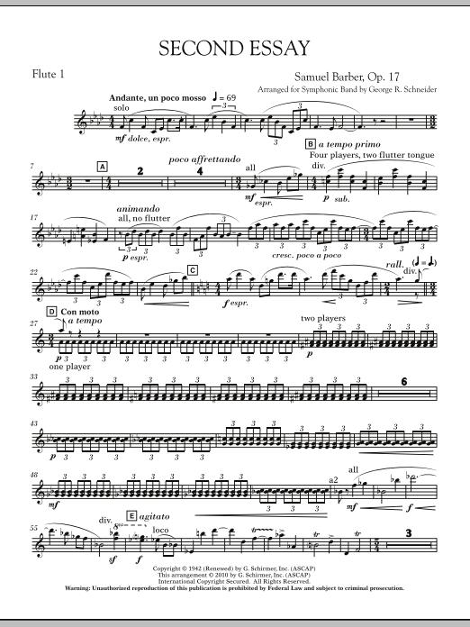 Second Essay - Flute 1 (Concert Band)