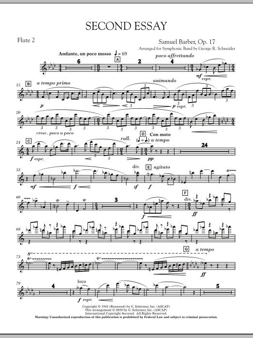 Second Essay - Flute 2 (Concert Band)