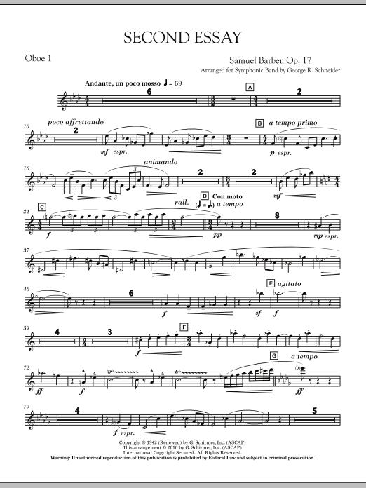 Second Essay - Oboe 1 (Concert Band)