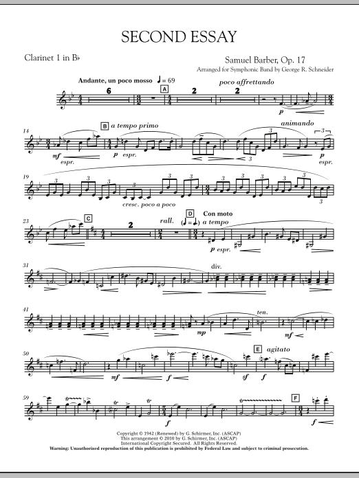 Second Essay - Bb Clarinet 1 (Concert Band)