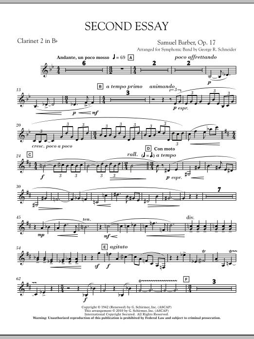 Second Essay - Bb Clarinet 2 (Concert Band)