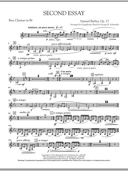 Second Essay - Bb Bass Clarinet (Concert Band)