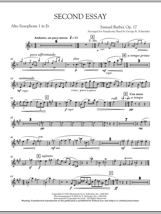 Second Essay - Eb Alto Saxophone 1 (Concert Band)