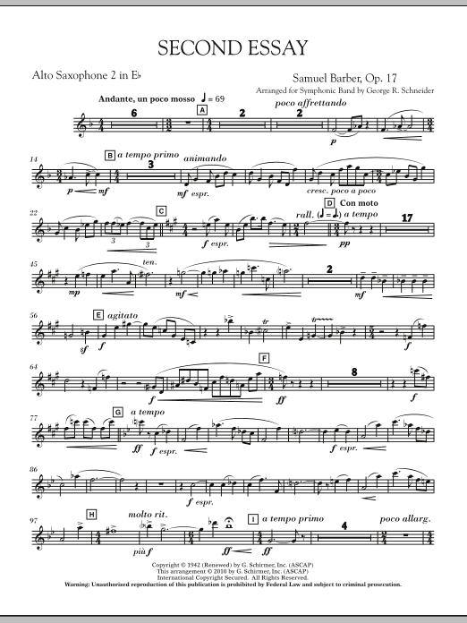 Second Essay - Eb Alto Saxophone 2 (Concert Band)