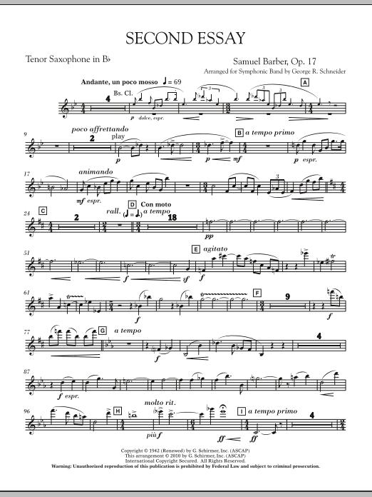 Second Essay - Bb Tenor Saxophone (Concert Band)