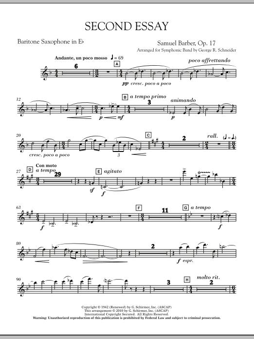 Second Essay - Eb Baritone Saxophone (Concert Band)
