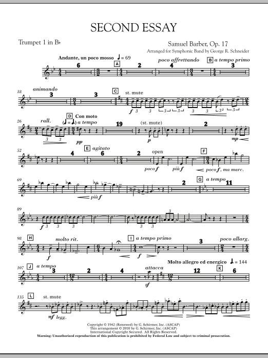 Second Essay - Bb Trumpet 1 (Concert Band)