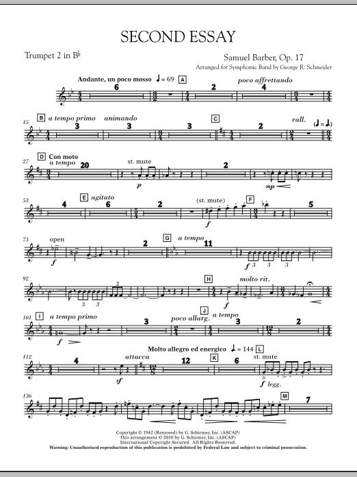 Second Essay - Bb Trumpet 2 (Concert Band)