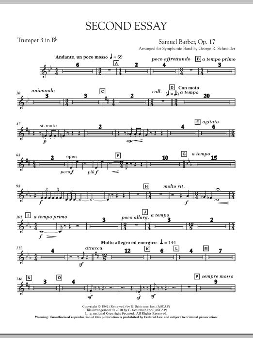 Second Essay - Bb Trumpet 3 (Concert Band)