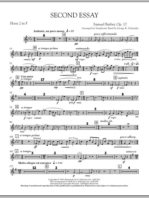 Second Essay - F Horn 2 (Concert Band)