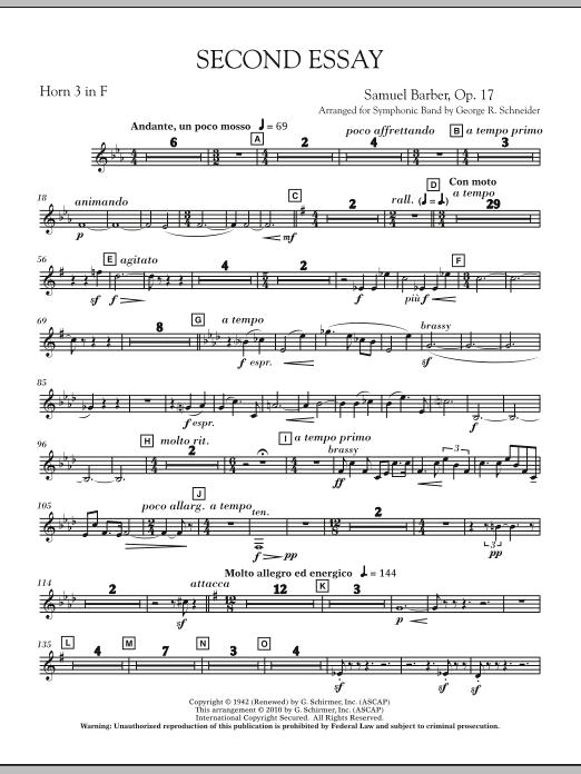 Second Essay - F Horn 3 (Concert Band)