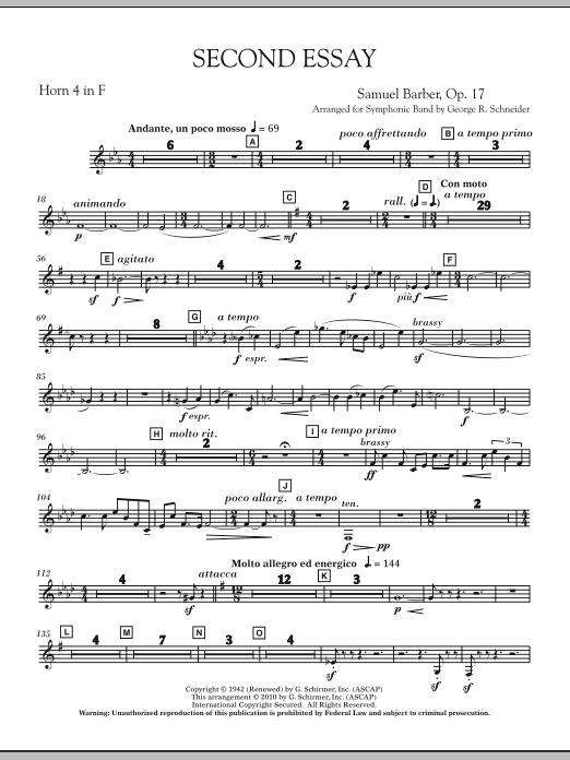 Second Essay - F Horn 4 (Concert Band)