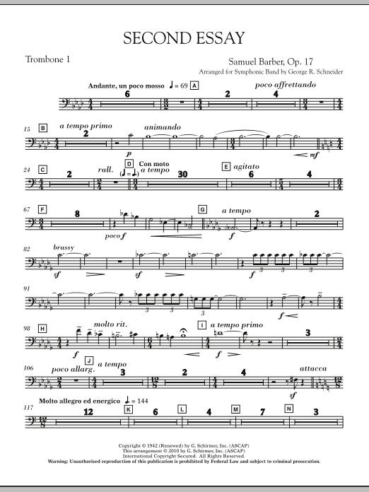 Second Essay - Trombone 1 (Concert Band)