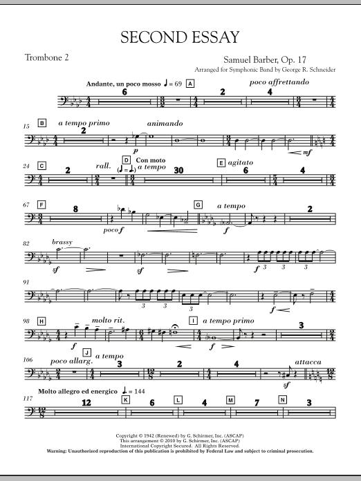 Second Essay - Trombone 2 (Concert Band)