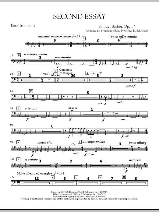 Second Essay - Bass Trombone (Concert Band)