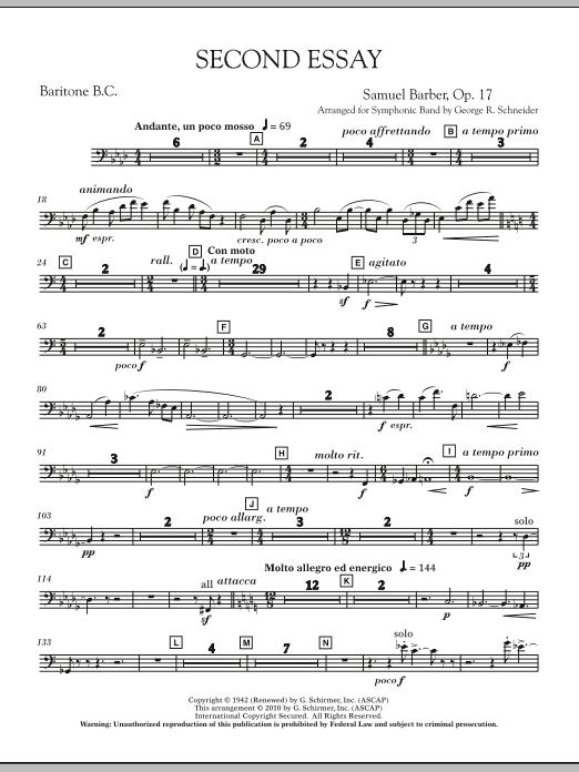 Second Essay - Baritone B.C. (Concert Band)