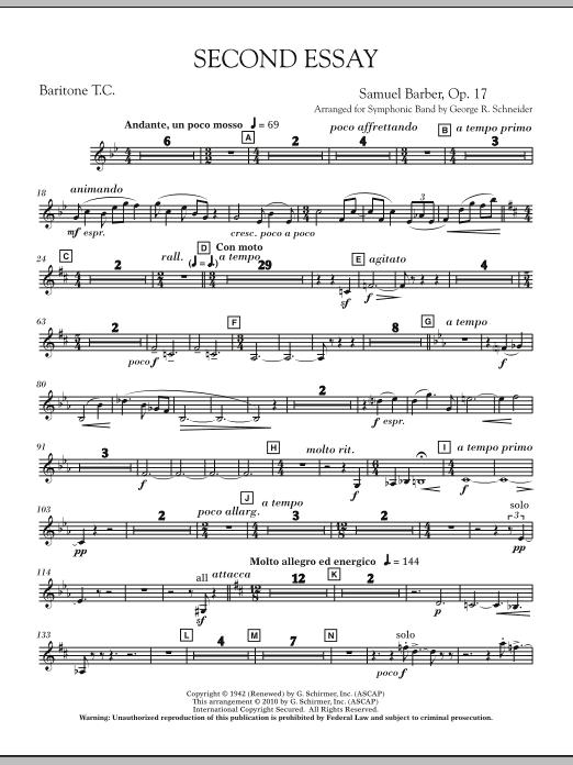 Second Essay - Baritone T.C. (Concert Band)