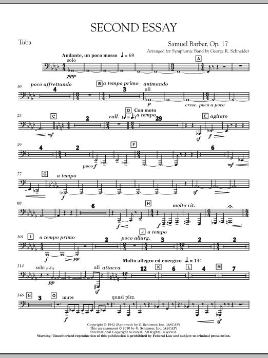 Second Essay - Tuba (Concert Band)