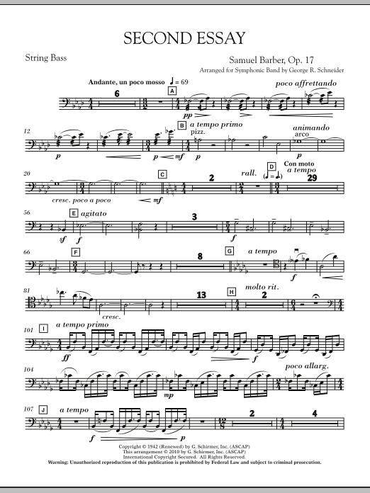 Second Essay - Timpani (Concert Band)