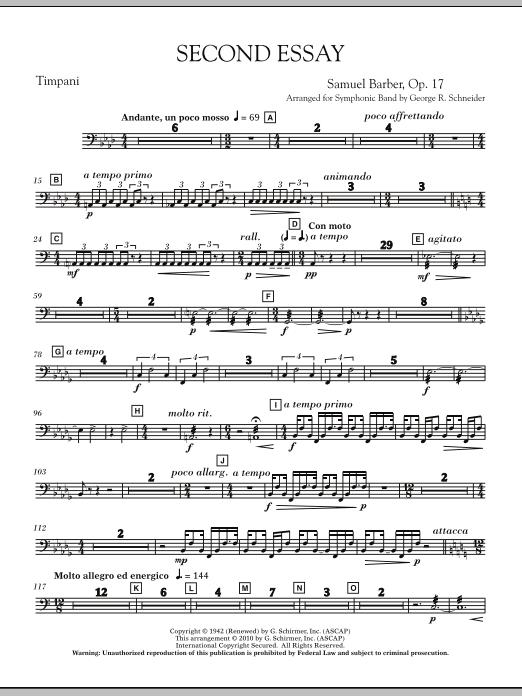 Second Essay - Percussion 1 (Concert Band)