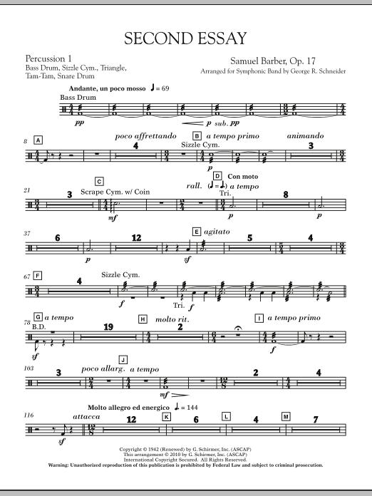Second Essay - Percussion 2 (Concert Band)