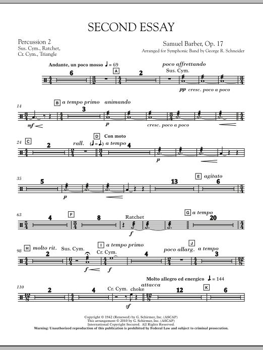 Second Essay - Percussion 3 (Concert Band)