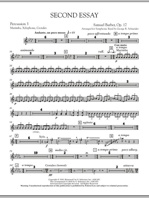 Second Essay - Percussion 4 (Concert Band)