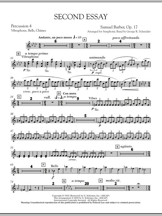 Second Essay - String Bass (Concert Band)