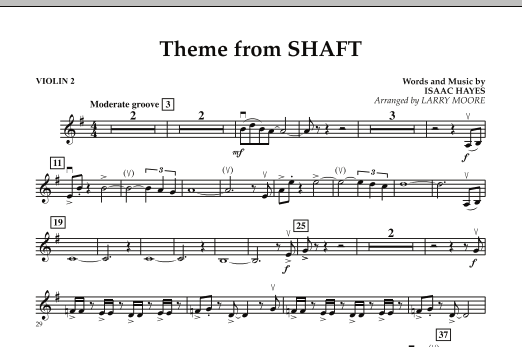 Theme from Shaft - Violin 2 (Orchestra)