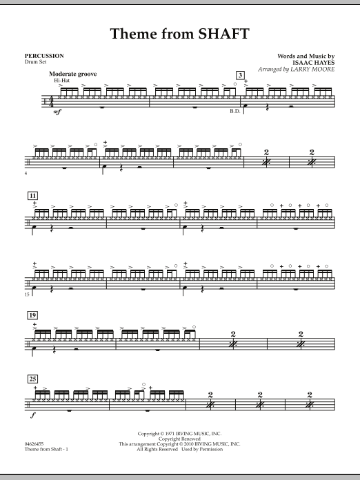 Theme from Shaft - Percussion (Orchestra)