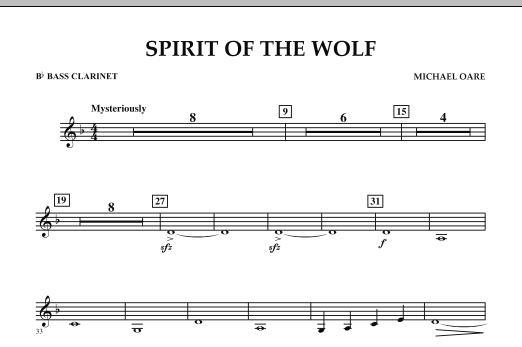 Spirit Of The Wolf - Bb Bass Clarinet (Concert Band)